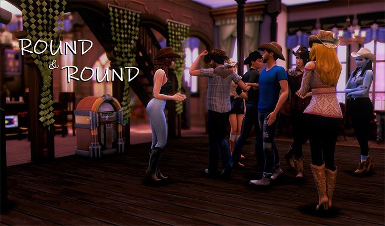 Round & Round Poses Preview / Sims 4 CC
