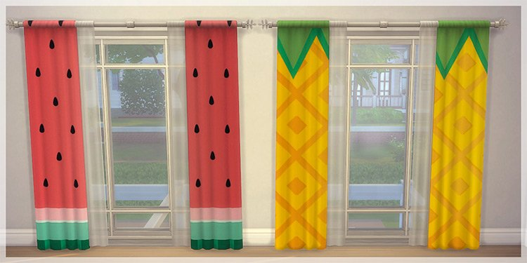 Colorful Curtains for The Sims 4