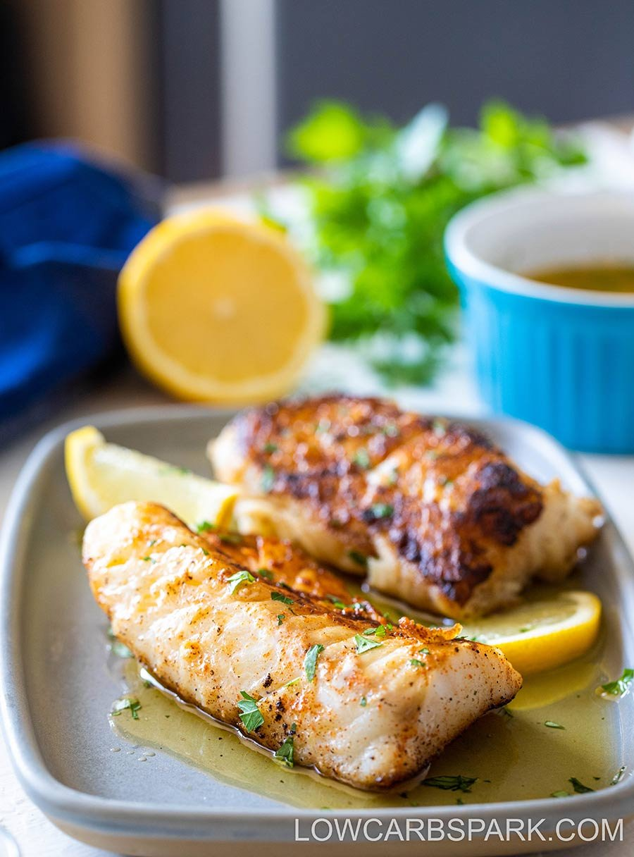 halibut recipe with garlic butter sauce
